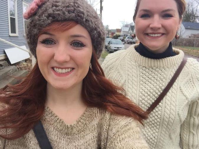 burly me and sis selfie