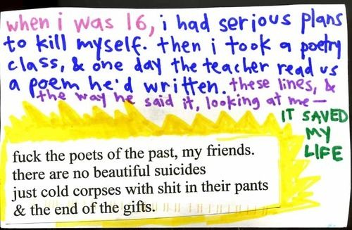 suicide post secret