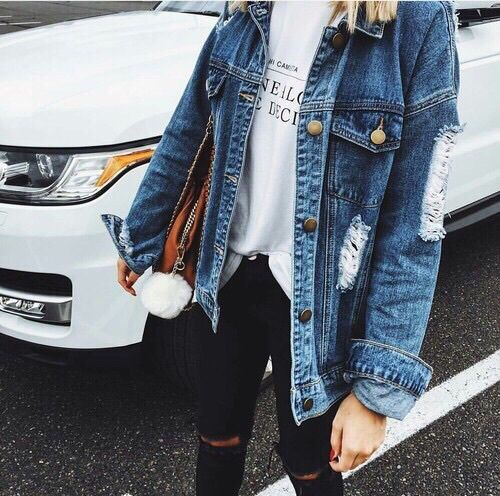 wonderful outfits with jean jacket tumblr pants