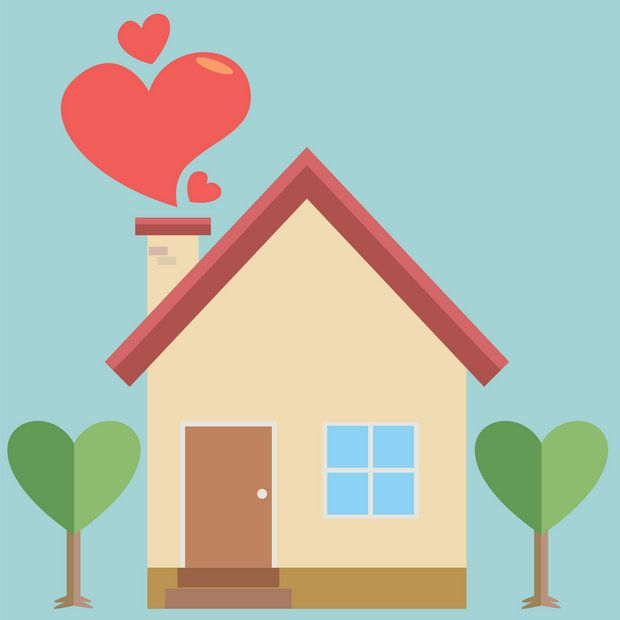 house with heart