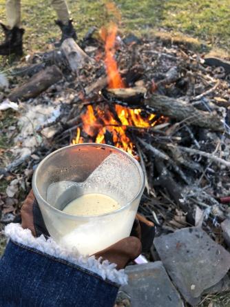 eggnog and fire